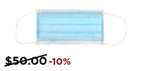 3-Ply Non-Medical Facemask (50 Pack) 10% OFF!